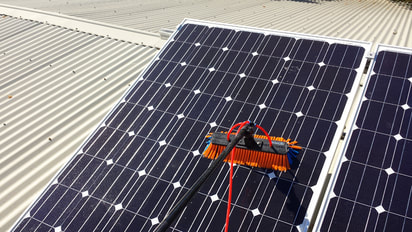 Cleaning Solar Panels with pure water system in Somerville 3912