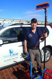 Blairgowrie window cleaner with car