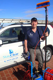 Mt Eliza window cleaner with car and equipment